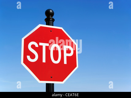 Stop traffic sign - Stock Image