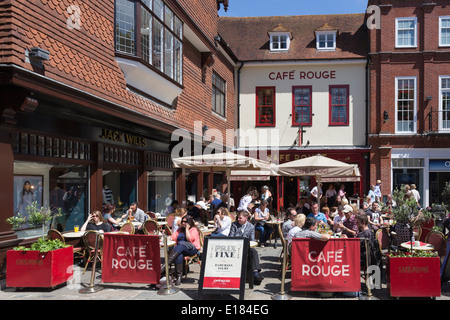 Cafe Rouge Canterbury Kent - Stock Image