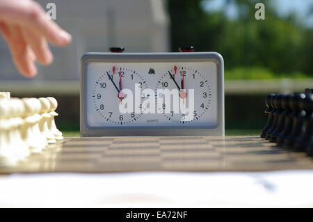 Chess Game started - Stock Image