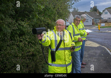 Community speed check team - Stock Image