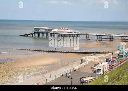 Sunny day in Cromer, Norfolk in June - Stock Image