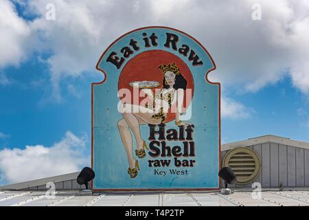 Half Shell Raw Bar, Sea Food Restaurant, Key West, Florida, USA - Stock Image