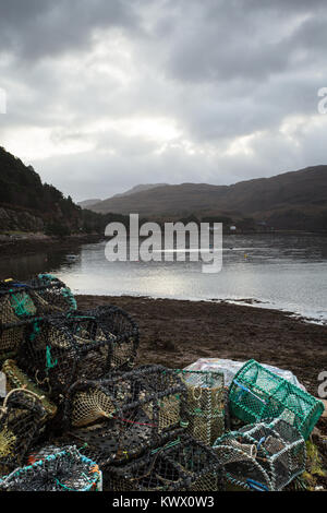 Loch Shieldaig - a fishing community in the Torridon area of the Scottish Highlands - Stock Image