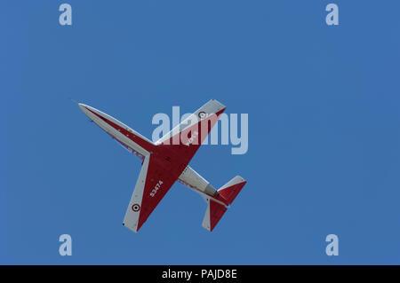 aerobatic flying-display at the 2005 Paris AirShow, Salon-du-Bourget - Stock Image
