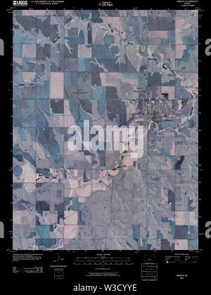 USGS TOPO Map Kansas KS Oberlin 20091126 TM Inverted Restoration - Stock Image