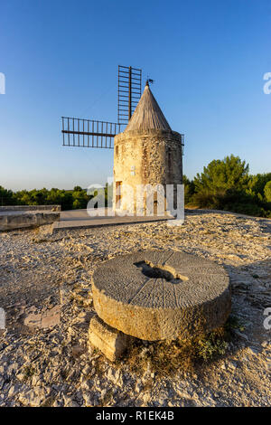 windmill of Daudet,  Fontvieille, Provence-Alpes-Cote d'Azur, Provence, France - Stock Image
