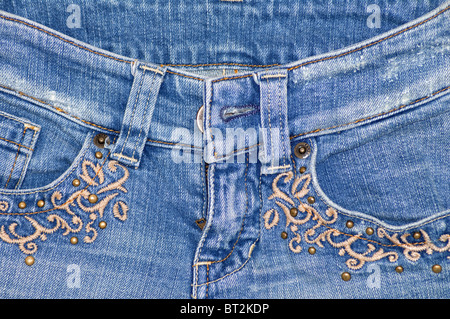 Jean With Embroidery - Stock Image