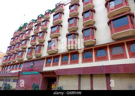 Hotel exterior, Jaipur, Rajasthan, India - Stock Image