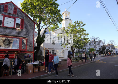 Commercial Street, Provincetown, MA, USA - Stock Image