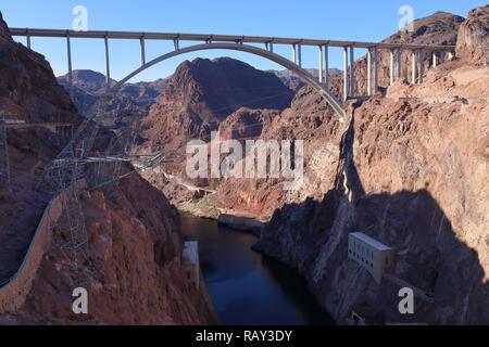 Memorial Bridge at Lake Mead, Nevada, USA - Stock Image