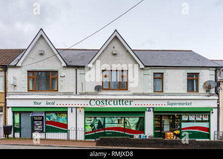A costcutter shop front in Seven Sisters in South Wales, Wales, UK - Stock Image