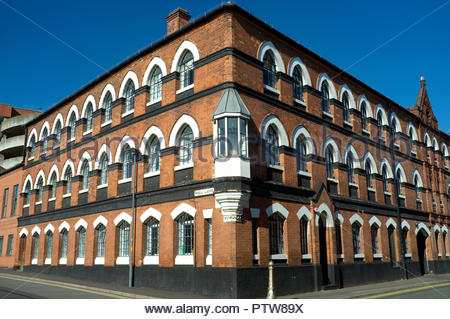 The Brolly Works - a former umbrella factory, now residential apartments. Allison St. & Well Lane, Birmingham, West Midlands, UK. - Stock Image