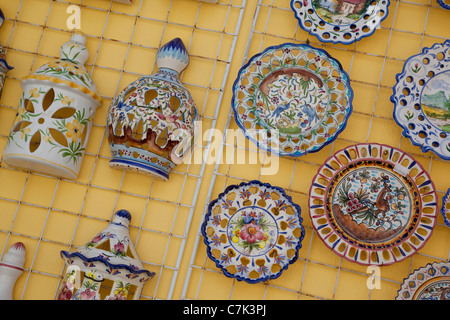 Portugal, Algarve, Alvor, Souvenir Pottery - Stock Image