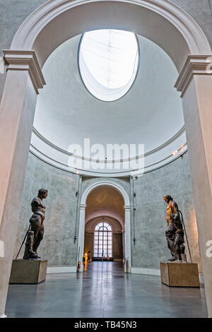 Italy Emilia Romagna Parma Museum Pole of the Pilotta - National Gallery  - room of the two Colossi - Hercules and Bacchus - Stock Image