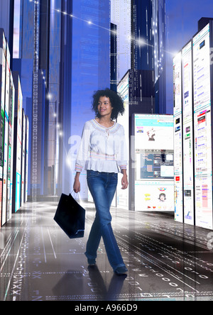 Internet online Cyber shopping - Stock Image