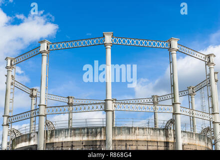 Old Iron Gas Tower structure - Stock Image
