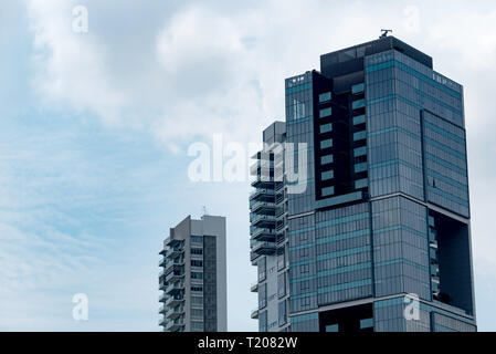 The TwentyOne Angullia Park residential tower on Orchard Road in Singapore - Stock Image