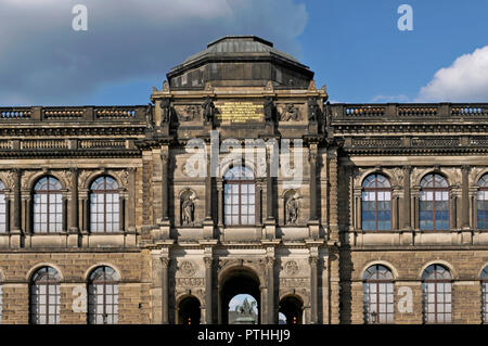Zwinger Palace detail in Dresden, Saxony, Germany - Stock Image