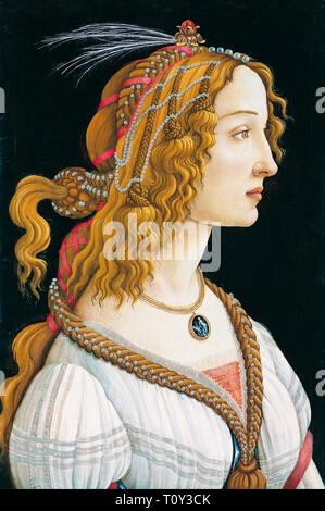 Sandro Botticelli, Portrait of a Young Woman, 1480 - Stock Image