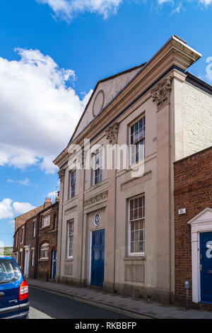 Beverley Masonic Hall, neo Classical style, 1928,Trinity Lane, Beverley, East Riding, Yorkshire, England - Stock Image