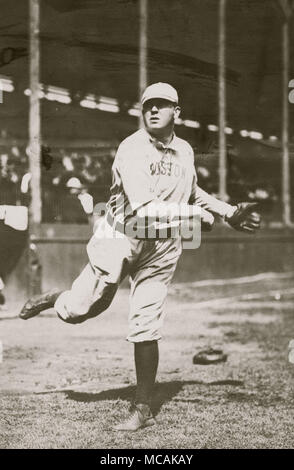 Cy Young Pitching - Stock Image