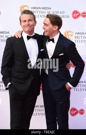 LONDON, UK. May 12, 2019: Bradley & Barney Walsh arriving for the BAFTA TV Awards 2019 at the Royal Festival Hall, London. Picture: Steve Vas/Featureflash - Stock Image