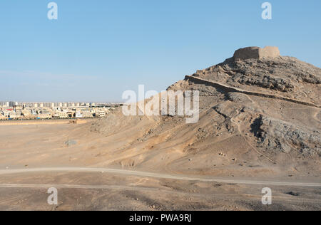 Zoroastrian Tower of Silence (Dakhmeh), Yazd, Iran - Stock Image