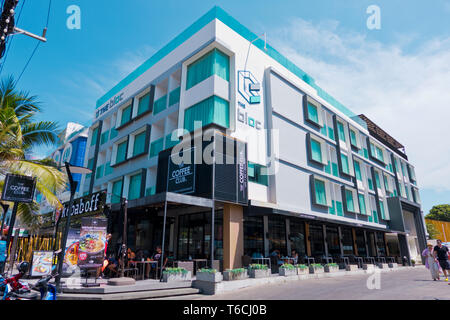 The Bloc, hotel and entertainment complex, Beach Road, Thawewong Road, Patong, Phuket island, Thailand - Stock Image