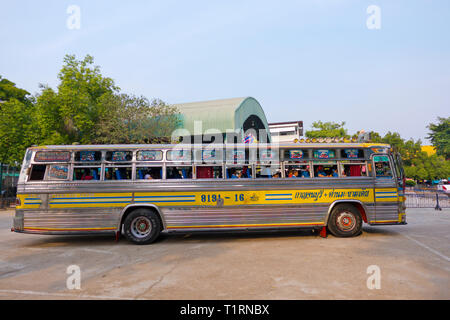 Schoolbus, Kanchanaburi, Thailand - Stock Image