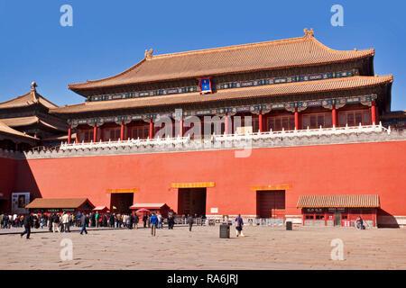 China Beijing Forbidden City Temple - Stock Image