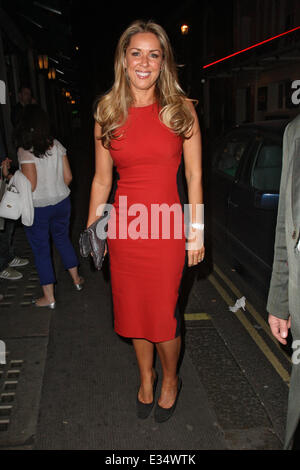 Claire Sweeney leaving the Ivy with fiance Daniel Riley  Featuring: Claire Sweeney Where: London, United Kingdom - Stock Image