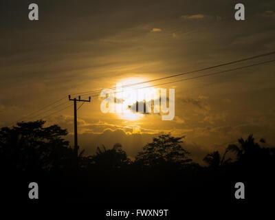 Sunrise in Ubud Bali - Stock Image