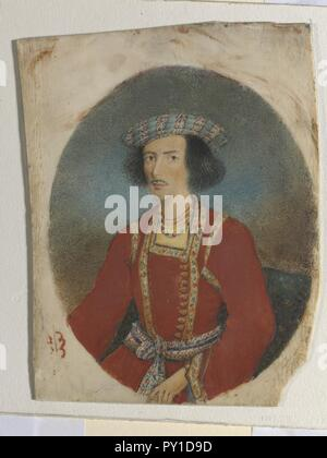 Bust portrait of the Hindu reformer Ram Mohan Roy.. - Stock Image