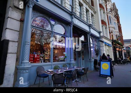 Carluccio's Restaurant in City of London, London, England, UK - Stock Image