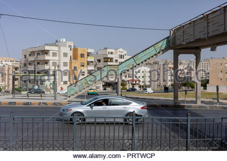 Hybrid Electric Car driving on Highway in Amman Jordan - 2018 - Stock Image