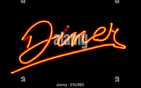Neon Diner sign - Stock Image
