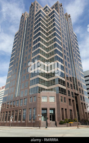 GREENSBORO , NC, USA-2/14/19: The high-rise building located at 300 North Greene St. - Stock Image