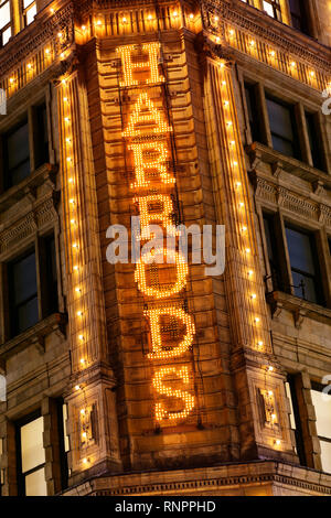Harrods, Knightsbridge, London, United Kingdom - Stock Image