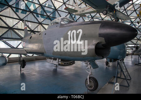 North American F 86D-50-NA Sabre Dog at display in Serbian Aeronautical museum in Belgrade - Stock Image
