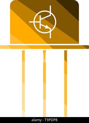 Transistor Icon. Flat Color Ladder Design. Vector Illustration. - Stock Image