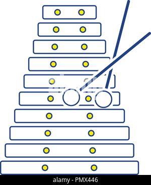 Xylophone icon. Thin line design. Vector illustration. - Stock Image