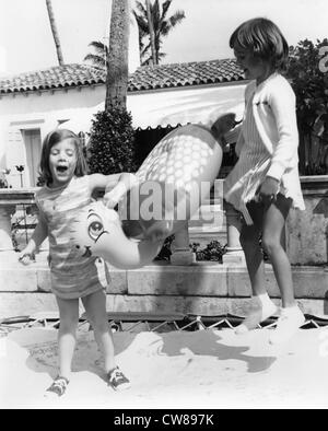 Caroline Kennedy with Francine McMahon Ryan at her birthday party at the home of Frank McMahon, Palm Beach, February, - Stock Image