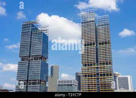 South Beach Tower and JW Marriott Hotel skyscraper in Singapore. - Stock Image