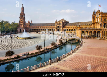 Spanish Square in Sevilla, Spain - Stock Image