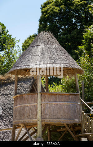 A structure at Le Village Gaulois, Cotes d'Armor, Brittany, France, Europe. - Stock Image