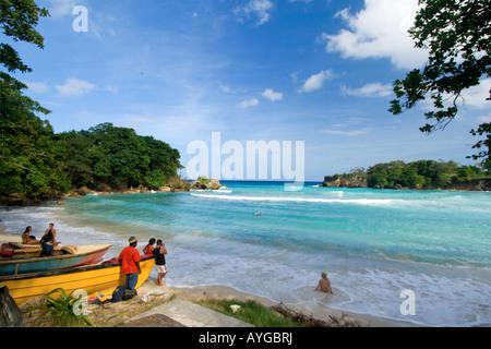 Jamaica Boston Bay Beach - Stock Image
