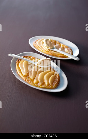 Pear Tart - Stock Image