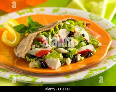Crab pita - Stock Image