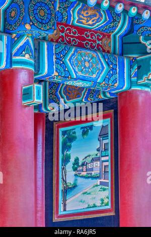 Small painting Summer palace beijing China - Stock Image