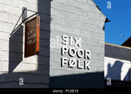 Six Poor Folk, pub & restaurant, Knaresborough, North Yorkshire, England UK - Stock Image